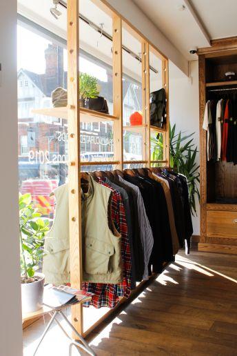 Mens designer clothes shop