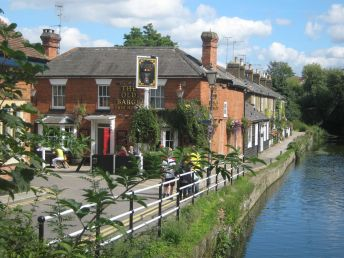 Pub on the river in Hertford