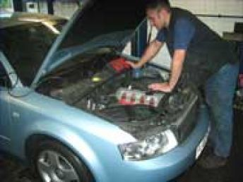 Car garage offering servicing and repairs
